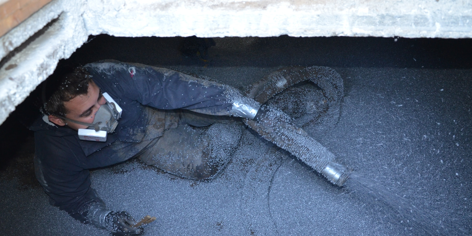Kruipruimte vloer isoleren met EPS